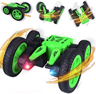 Remote Control Car RC Stunt Cars, 4WD 2.4Ghz 360° High-Speed Rotating Double-Sided Flips Rc Toys for Boy Girl, Birthday Gift for Kids Children Lq71