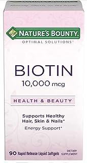 Nature's Bounty Optimal Solutions Biotin 10,000 mcg 90 Rapid Release Liquid Softgels
