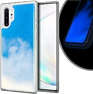 VenSen Liquid Fluorescent Case for Samsung Galaxy Note 10 + Plus 5G Soft TPU Luxury Glow in The Darkness Noctiluncen Luminous Neon Sand case Fit Note10Plus Note10+ (Blue)
