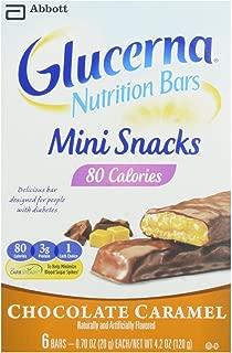 Glucerna Mini Snack Bars Chocolate Caramel 6 Count (2 Pack)