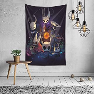 Super Soft Does Not Fade Tapestry,Ho-llow Knight Protagonists Wallpaper 3D Printing Cartoon Fashion Hippie Bohemian Psyche...
