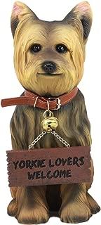 Ebros Gift Yorkie Dog Garden Statue 12.5