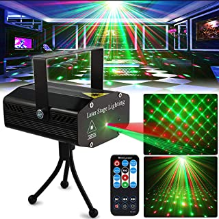 Party Light DJ DiscoLights TONGK Stage Lighting Projector Sound Activated Flash Strobe..