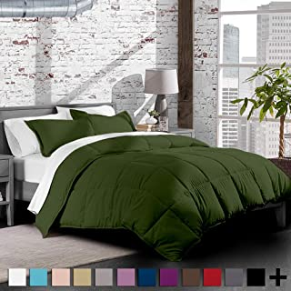 Cypress Army Green Twin Extra Long Comforter Set By Ivy Union