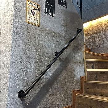 OUG- Barandilla de Hierro Forjado Negro, barandilla Antideslizante para escaleras, Poste de Apoyo para el Pasillo de niños Mayores de Pared a Pared, barandilla de Seguridad montada en la (30-600 cm): Amazon.es: