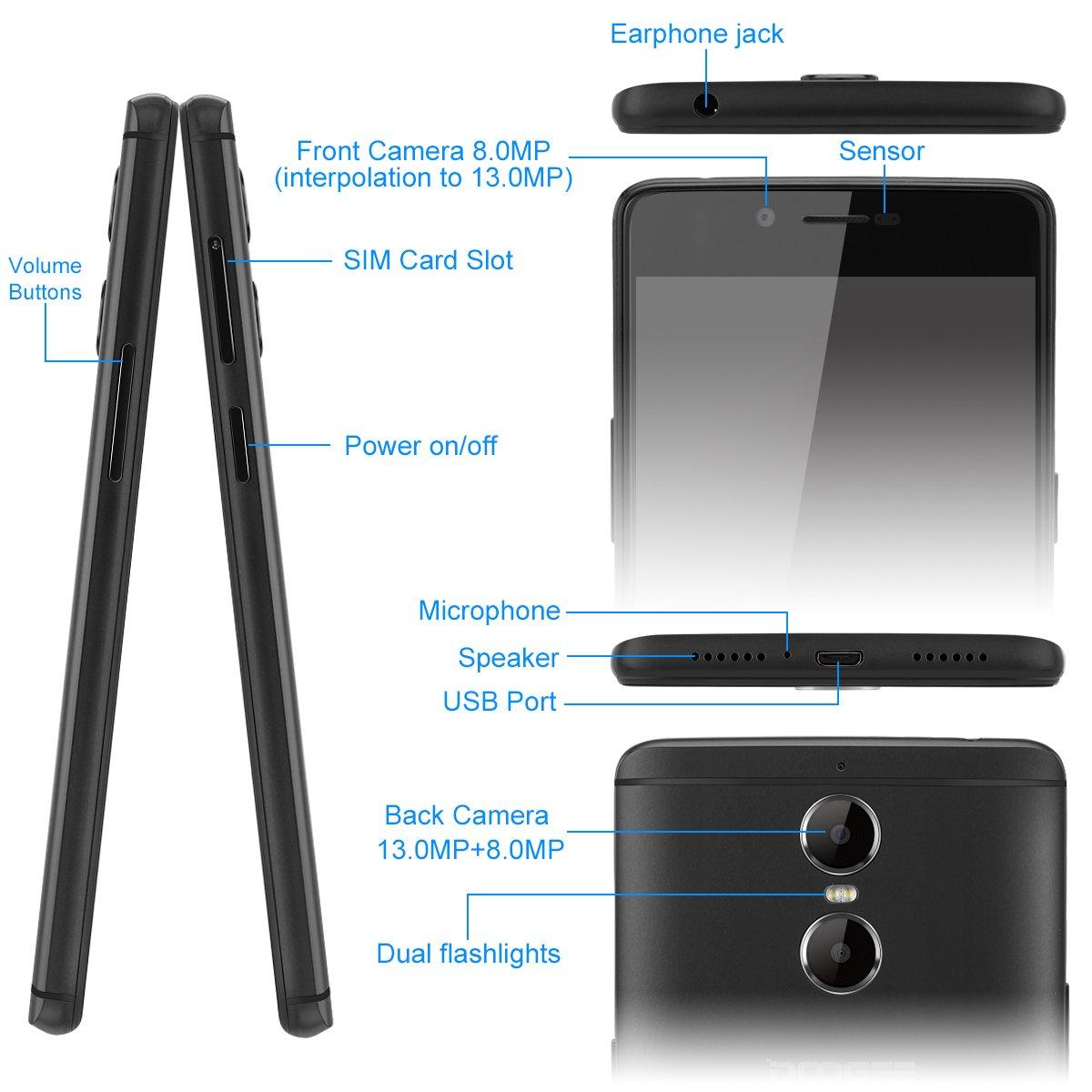 Doogee Shoot 1-4G Smartphone Libre Android 6.0 (Pantalla FHD 5.5