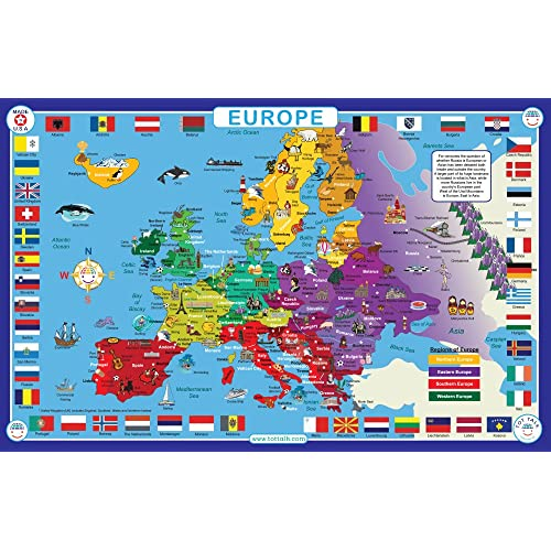 Europe Map.European Map Amazon Com