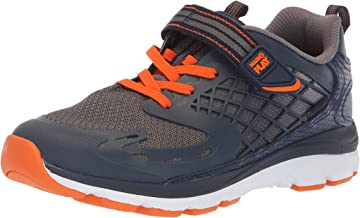 Stride Rite Boys' M2P Breccen Sneaker, Navy/Orange, 5 XW US Toddler