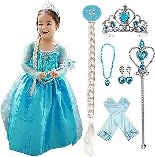 LOEL Princess Costume Dress Snowflake Princess Girls Dress Girls Costume Cosplay Outfit