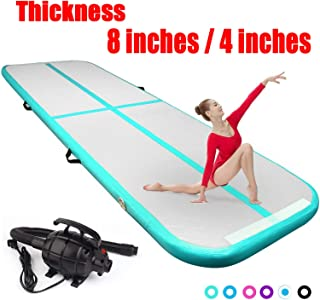 FBSPORT 8inches/4 inches Thickness airtrack mat,26ft/23ft/20ft/17ft/13ft/10ft Tumble..