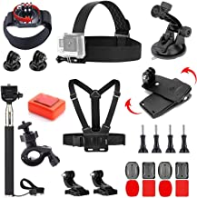VVHOOY 24 in 1 Universal Action Camera Accessories Bundle Compatible with Gopro Hero 7/6/5 Session/AKASO EK7000/Brave 4K/V50 Native/DBPOWER/Crosstour/Campark Action Camera Accessories
