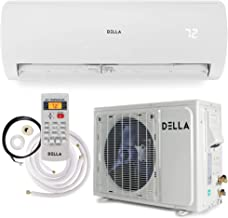 Della 12000 BTU Mini Split Air Conditioner Ductless Inverter System 17 SEER 208-230V with 1 Ton Heat Pump
