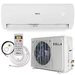 Della 12000 BTU Mini Split Air Conditioner Ductless Inverter System 17 SEER 115V