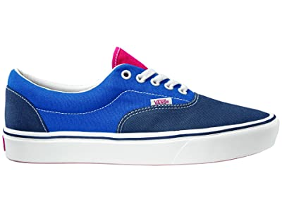 Vans ComfyCush Era ((Tri-Tone) Dress Blues/Blue/Red) Athletic Shoes