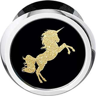 Imiao Full Metal Office Business Card Holder Name Card Stand Display for Man and Women Idea Office Gift - Gold Unicorn