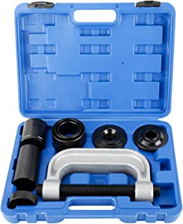 8MILELAKE Ball Joint Press Tool and Removal Tool Pitman Arm Puller with 4-Wheel Drive Adapters
