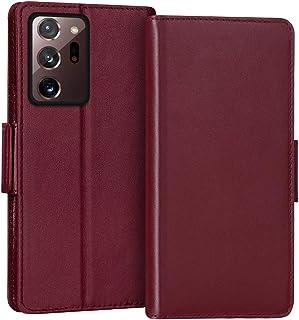 FYY Case for Samsung Galaxy Note 20 Ultra, Luxury [Cowhide Genuine Leather][RFID Blocking] Wallet Case, Flip Folio Case wi...