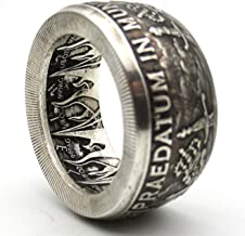 Pieces of Eight Pirate coin ring. Pure silver coin ring Praedatum In Mundo