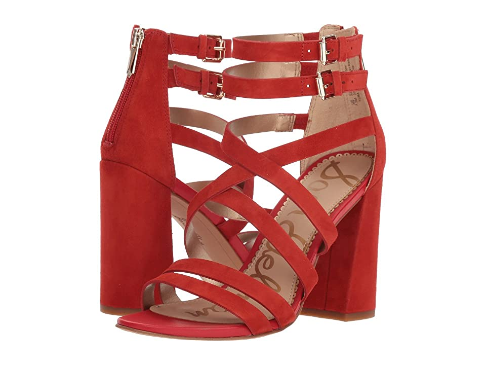Sam Edelman Yema (Candy Red Kid Suede Leather) Women