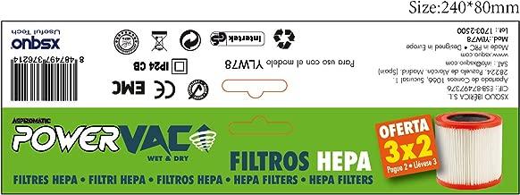 XSQUO Recambio Filtro HEPA ASPIROMATIC POWERVAC Oferta 3X2 ...