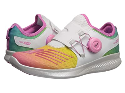 New Balance Kids FuelCore Reveal (Big Kid) (White/Rainbow) Girls Shoes