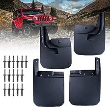 SUPAREE 4PCS Mudguard Fender Mud Flaps Front Rear Splash Guards Kit for 2018 Jeep Wrangler JL Models OE: 82215332AB/82215333
