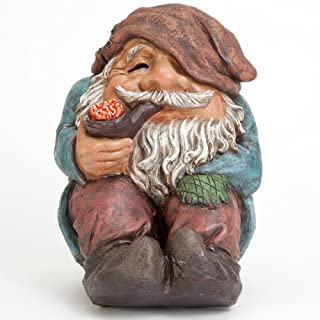 Bits and Pieces - Funny Sitting Gnome Garden Sculpture - Garden Gnome - Outdoor Garden Statue - Hand Painted Durable Weather Resistant Polyresin Sculpture