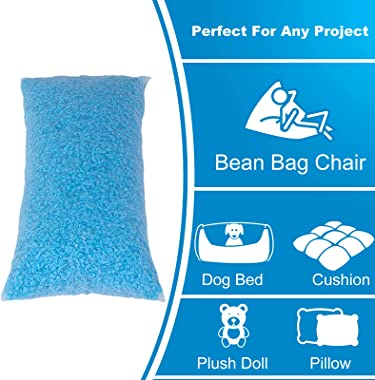 Molblly Bean Bag Filler Foam 20lbs Premium Shredded Memory Foam Filling for Pillow Dog Beds Chairs Cushions and Arts Crafts,