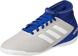 adidas PREDATOR 19.3 IN J, Boys Soccer Shoes, Grey (Grey Two F17/Ftwr White/Bold Blue)