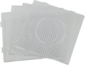 Nrpfell 4pcs ABC Clear 145x145mm Square Large Pegboards Board for Hama Fuse Perler Bead