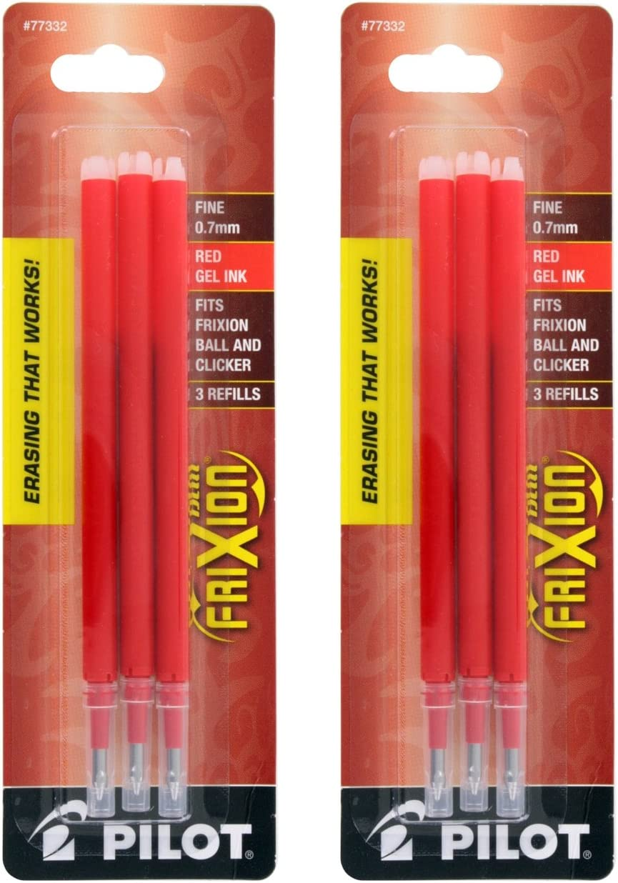 Pilot FriXion Max 71% OFF Eraseable Gel Refills Arlington Mall Pen Ink Red