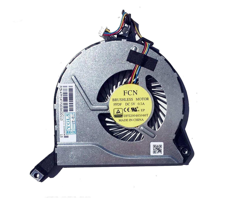 Ventilador de refrigeración de repuesto compatible con HP Pavilion 17-F 15-P 15-K 14-P 14-V, Envy M7-K Series Laptop P/N: 767776-001 767706-001 773447-001 767712-001