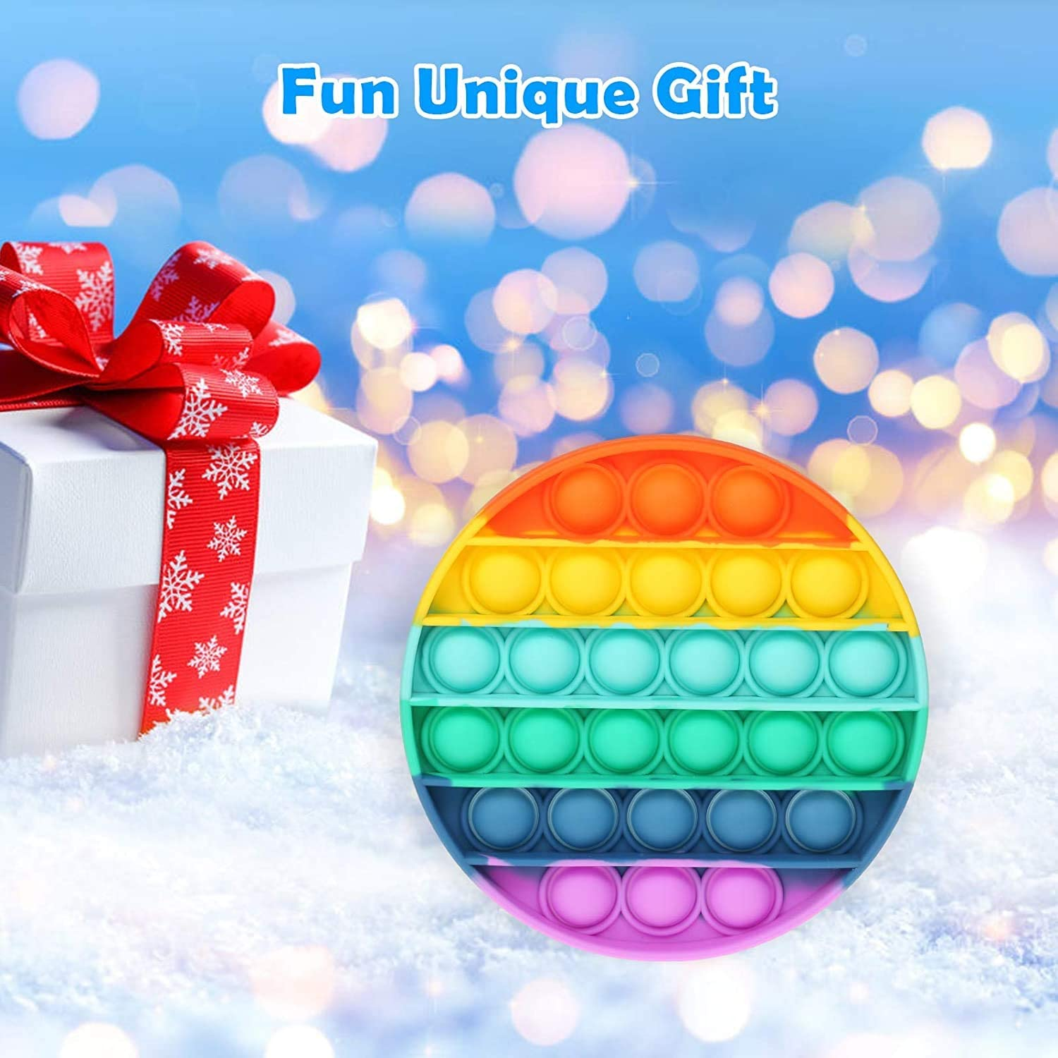 Silicone Figetget Toy for ADD ADHD Popping Fidget Novelty Gift for Kids Adults 3pcs,Multicolor Niyewfdo Fidget Sensory Toy Bubble Popper Anxiety Relief Autism Toy