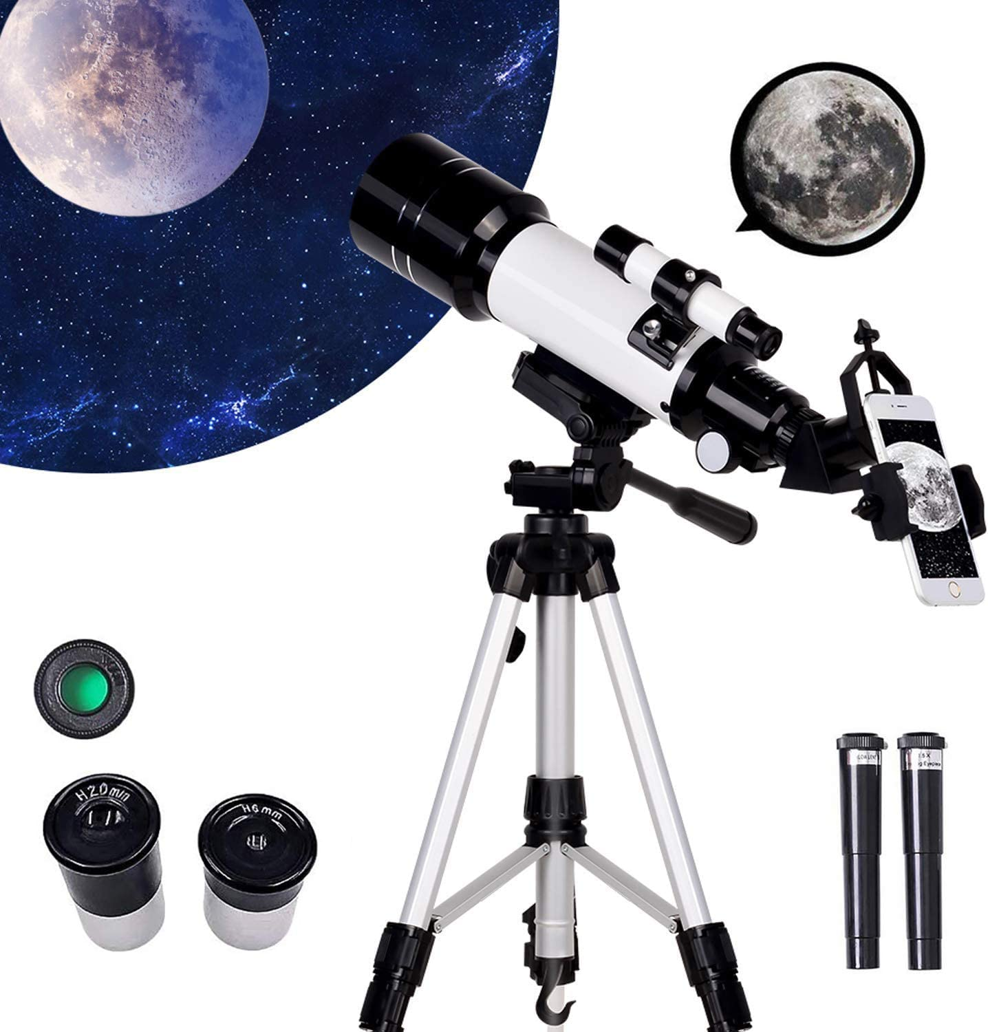 Monocular Astronomical 信憑 Refracting Telescope Adults Kids 全商品オープニング価格 for Be