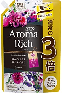 【大容量】ソフラン アロマリッチ ジュリエット(スイートフローラルアロマの香り) 柔軟剤 詰め替え 特大1200ml