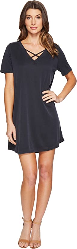Culture Phit - Alma Short Sleeve Dress with Strap Detail