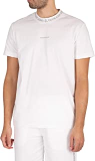 Calvin Klein Jeans Men's Logo Jacquard T-Shirt, White, XXL