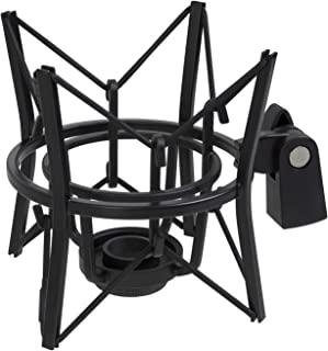 LyxPro MKS1-B Condenser Spider Microphone Shockmount, Anti Vibration and Isolation - Black
