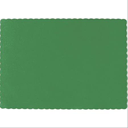 Green Disposable Placemats Green Party Decoration Supplies 100-Pack Paper Placemats Birthday Baby Shower Easter St Patricks Day Colored Tabletop Mats 14 x 10 Inches