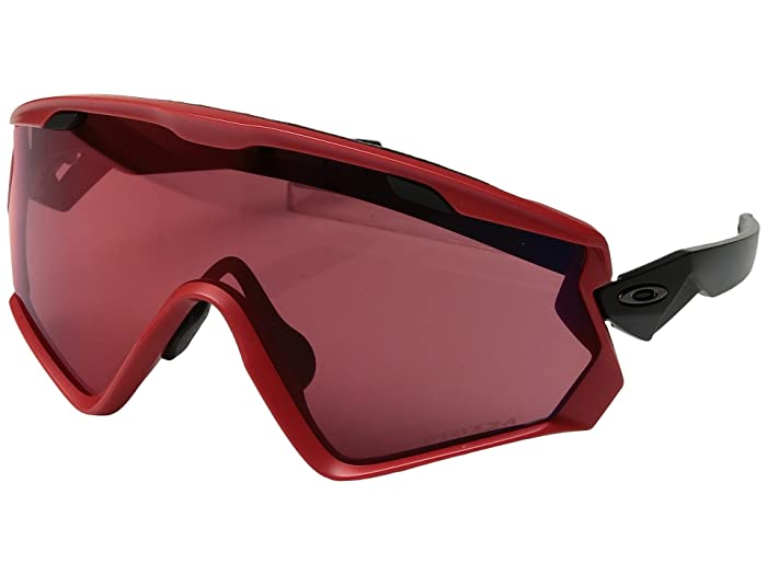 Oakley Wind Jacket 2.0 Snow (Viper Red w/ Prizm Snow Torch) Athletic Performance Sport Sunglasses