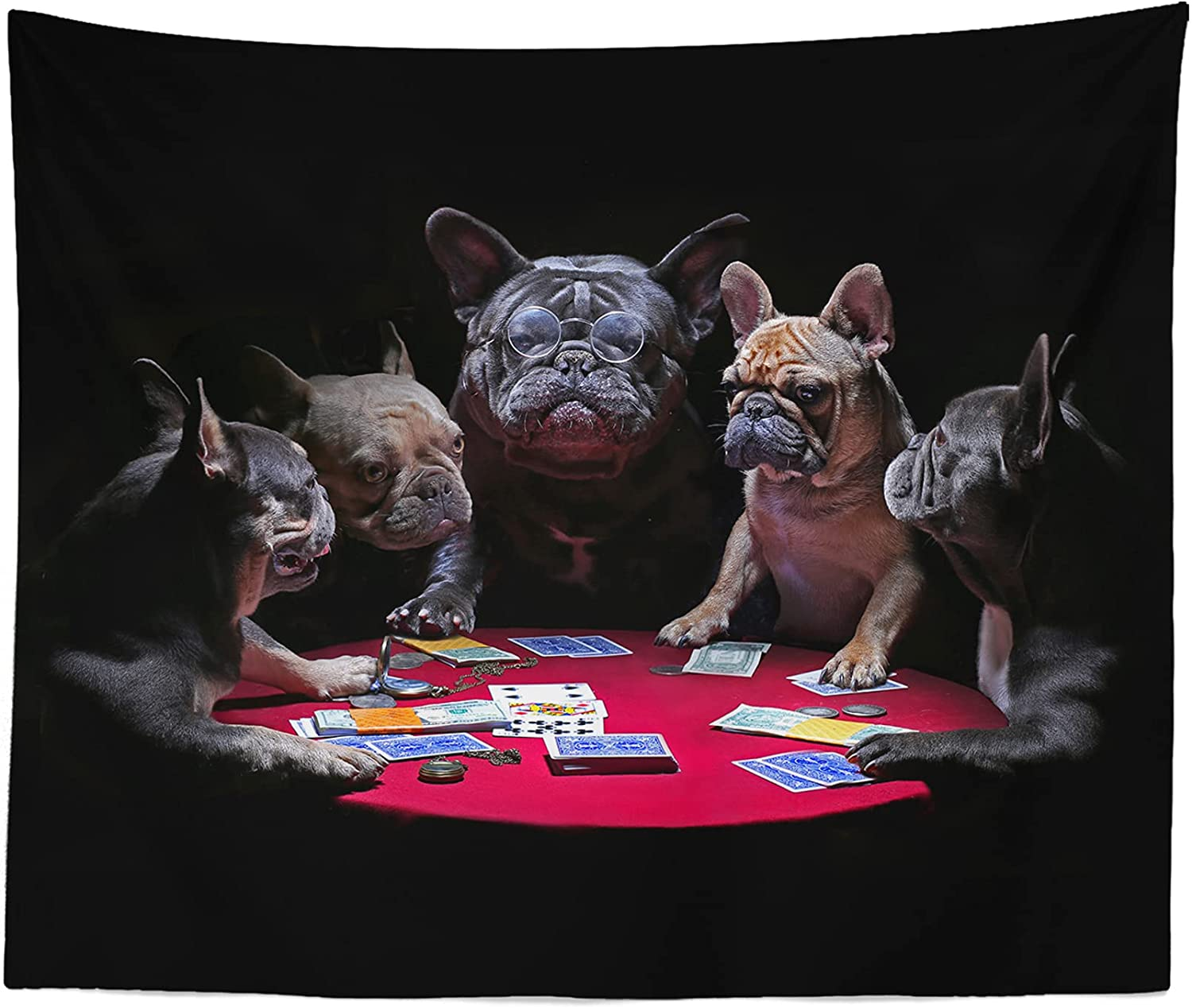 Dogs Playing Poker Tapestry - free shipping Card Décor Games Art Hanging Arlington Mall Wall