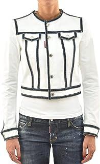 Dsquared2 Giubbino in Jeans con Bottoni Donna Bianco Nuovo