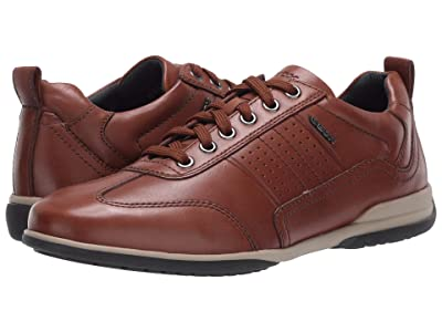 Geox Timothy (Dark Cognac Smooth Leather) Men
