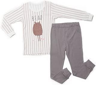 OllCHAENGi Little Boys Girls Kids Cotton Pajama Sleepwear Set Long Sleeve 18M-12Y Bear