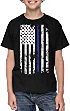 HAASE UNLIMITED Blue Line American Flag - Support Police Youth T-Shirt