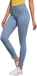 SweatyRocks Women's Super Stretch Comfy Denim Skinny Jeans Classic High Waist Pants