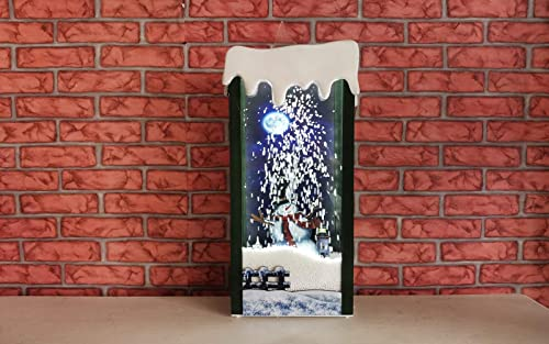 """high quality 21"""" Decorative Snowing LED Lighted discount 8 Song Snowman Holiday Display Flameless Candle lowest by SkyMall outlet online sale"""