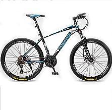 24/26/27,2 Pulgadas Bicicleta De Montaña 24/27 Velocidad Suspension Delantera Bicicleta Montaña MTB para Hombres/Mujeres,Black Blue,27.5In 27Speed