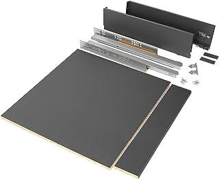 10 pi/èces coulisses//glissi/ères /à Billes extrait Partie 17mm x 374mm pour tiroir Zingu/é EMUCA 3009205 Lot de 5 Paires 5 paires-374mm