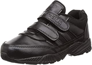 Action Shoes Synergy Boy's Black Synthetic Leather Lightweight Durable School Shoes -UK/India 13kids